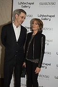 EDMUND DE WAAL, MARYAM SACHS at the Whitechapel Gallery Art Icon 2015 Gala dinner supported by the Swarovski Foundation. The Banking Hall, Cornhill, London. 19 March 2015