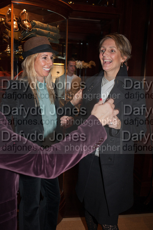 HAYLEY SIEFF; SAFFRON ALDRIDGE, Book launch for ' Daughter of Empire - Life as a Mountbatten' by Lady Pamela Hicks. Ralph Lauren, 1 New Bond St. London. 12 November 2012.