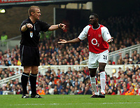 Picture: Henry Browne, Digitalsport<br /> NORWAY ONLY<br /> <br /> Date: 01/05/2004.<br /> Arsenal v Birmingham City FA Barclaycard Premiership.<br /> <br /> Kolo Toure of Arsenal appeals to the referee.