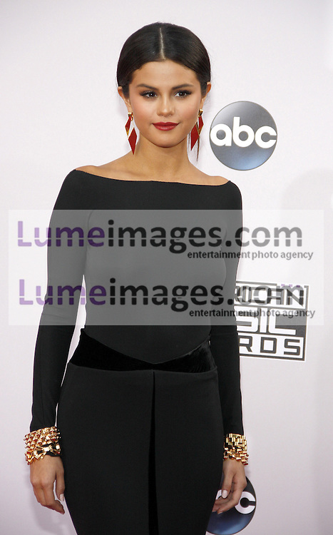 Selena Gomez at the 2014 American Music Awards held at the Nokia Theatre L.A. Live in Los Angeles on November 23, 2014 in Los Angeles, California. Credit: Lumeimages.com