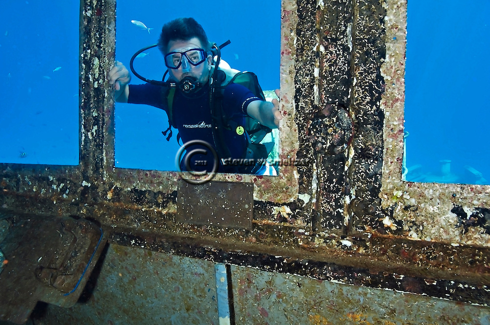 Steven Smeltzer, Pilot House, USS Kittiwake, Grand Cayman