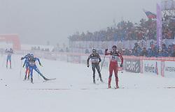 01.02.2013, Olympiaarena, Sotschi, RUS, FIS Langlauf Weltcup, Sprint Maenner, im Bild Zieleinlauf von Petter Northug (16, NOR) vor Dario Cologna (1, SUI) und Daniel Hofer (7, AUT) // during sprint men of FIS cross country world cup at Olympic Arena in Sotschi, RUS,] on 2013/02/01. EXPA Pictures © 2013, PhotoCredit: EXPA/ Freshfocus/ Merkushev..***** ATTENTION - for AUT, SLO, CRO, SRB, BIH only *****