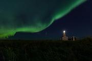 Northern Lights, Grotta Lighthouse, Reykjavik