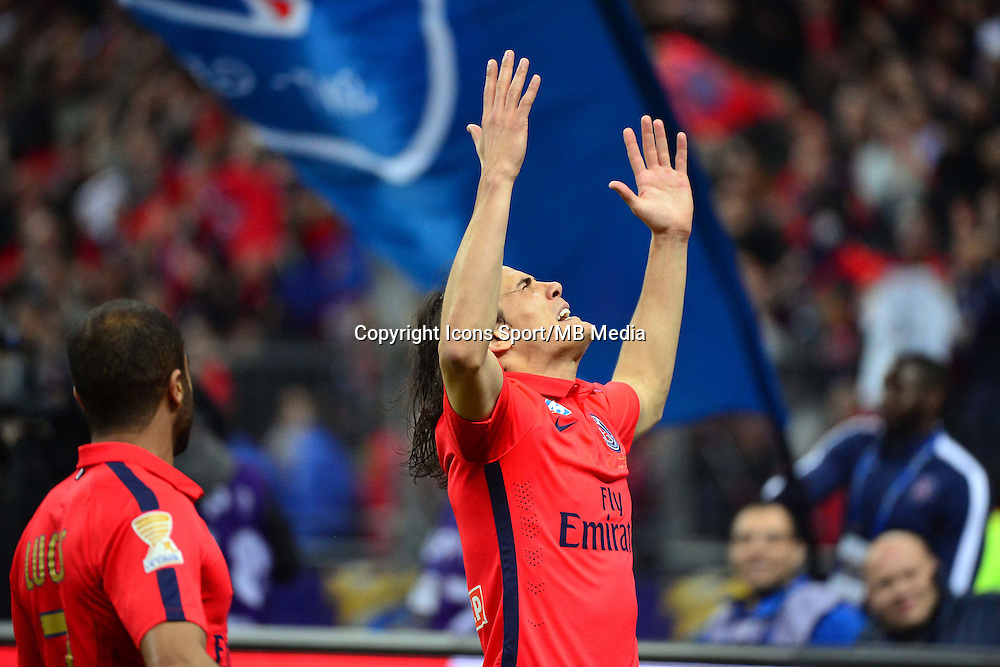 Joie Edinson CAVANI    - 11.04.2015 -  Bastia / PSG - Finale de la Coupe de la Ligue 2015<br />