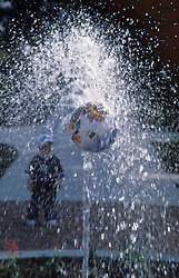 fountain water spray with globe shaped ball