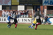 Ryan McGregror scores Baldragon's opening goal -  Baldragon v St.John's in the U14 Urquhart Trophy Final (sponsored by DSA) at Dens Park, Dundee<br /> <br /> <br />  - &copy; David Young - www.davidyoungphoto.co.uk - email: davidyoungphoto@gmail.com