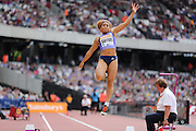 Jazmin Sawyers of the USA in the Woman Long Jump during the Sainsbury's Anniversary Games at the Queen Elizabeth II Olympic Park, London, United Kingdom on 25 July 2015. Photo by Phil Duncan.