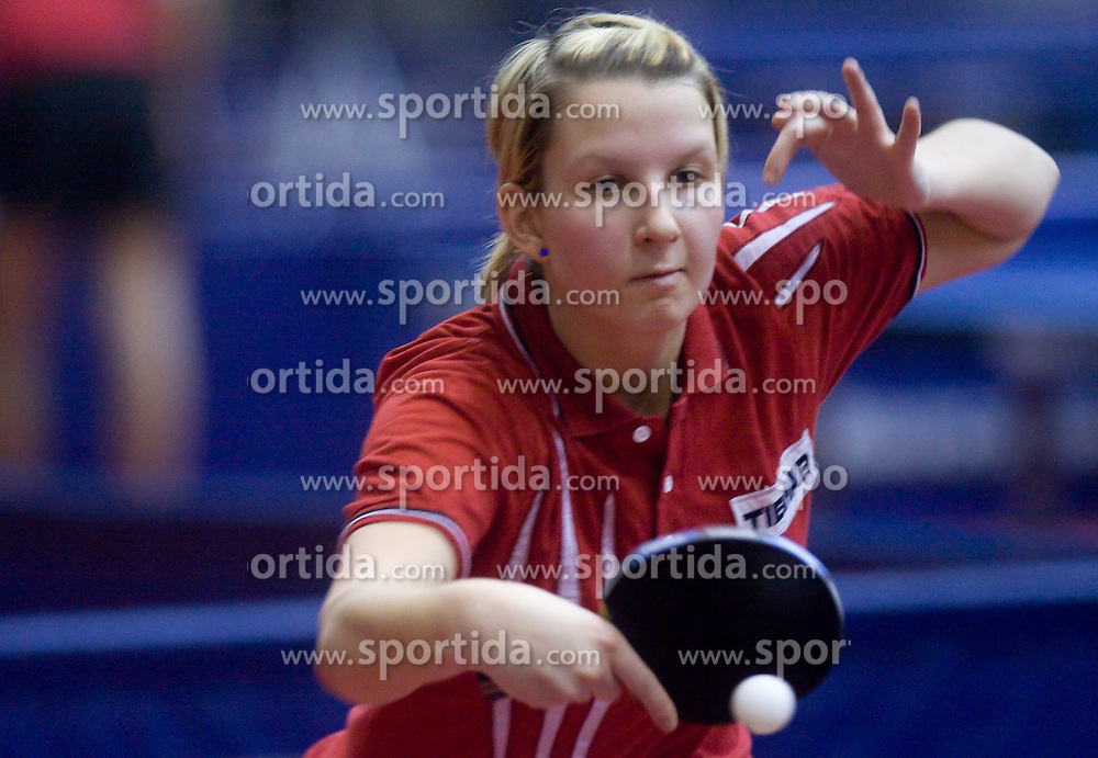 Manca Fajmut of Slovenia at 10th Slovenian Open Table Tennis Championships - Pro Tour Velenje Slovenian Open tournament, in Round 1, on January 15, 2009, in Red sports hall, Velenje, Slovenia. (Photo by Vid Ponikvar / Sportida)