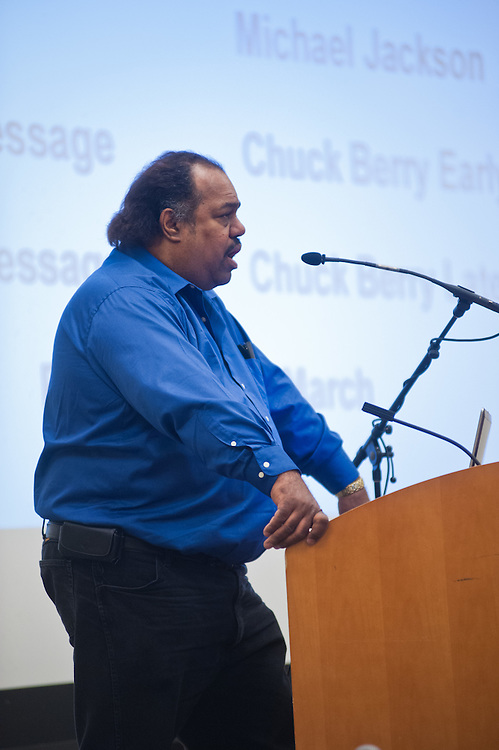 "In honor of Ohio University's Black History Month, Daryl Davis speaks about his experiences with the Ku Klux Klan in Baker Ballroom, Thursday, February 21, 2013. Davis is the author of ""Klan-Destine Relationships,"" a nonfiction account of his journeys while infiltrating the minds of KKK members."