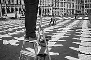 BELGIUM, Brussels. 7/05/2020: The HORECA sector demonstrates against the Covid-19 confinement measures lasting since March 18th. Despite a first stage of deconfinement planned for Monday 11th of May, the government still does not allow the reopening of restaurants and cafes.