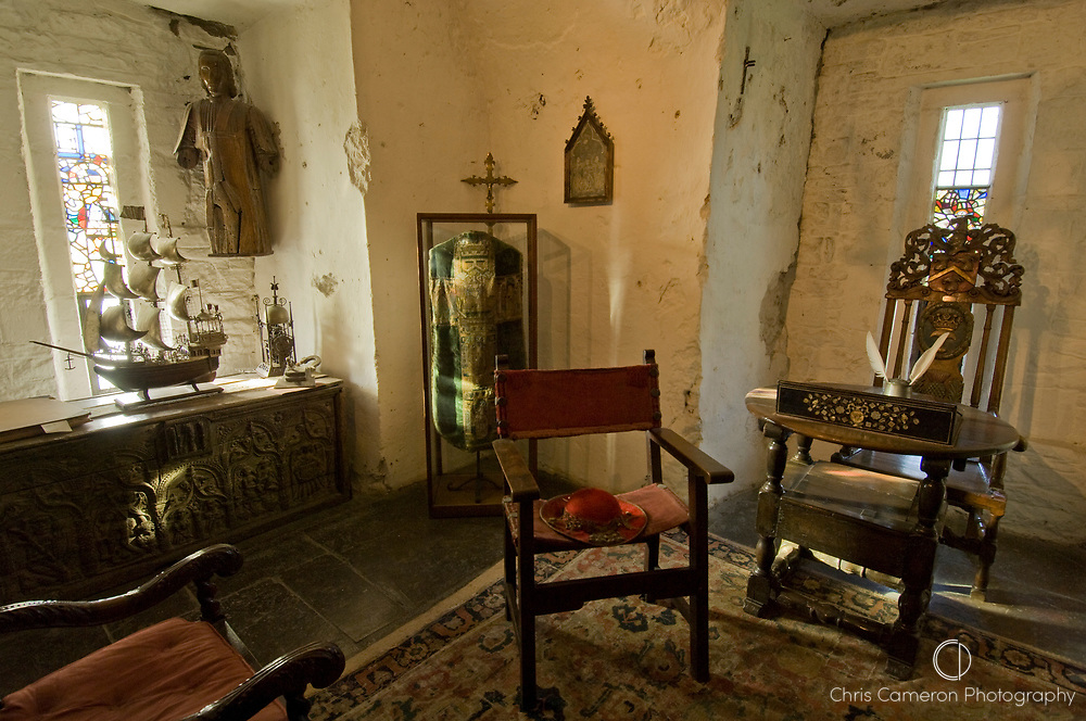 Robing room at Bunratty Castle, County Clare, Ireland.