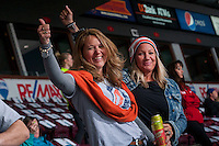 KELOWNA, CANADA - MARCH 25: Kamloops Blazer fans  on March 25, 2016 at Prospera Place in Kelowna, British Columbia, Canada.  (Photo by Marissa Baecker/Shoot the Breeze)  *** Local Caption *** fans;