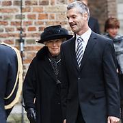 NLD/Delft/20131102 - Herdenkingsdienst voor de overleden prins Friso, ex grootmeesteres Martina van Loon la Bouchere