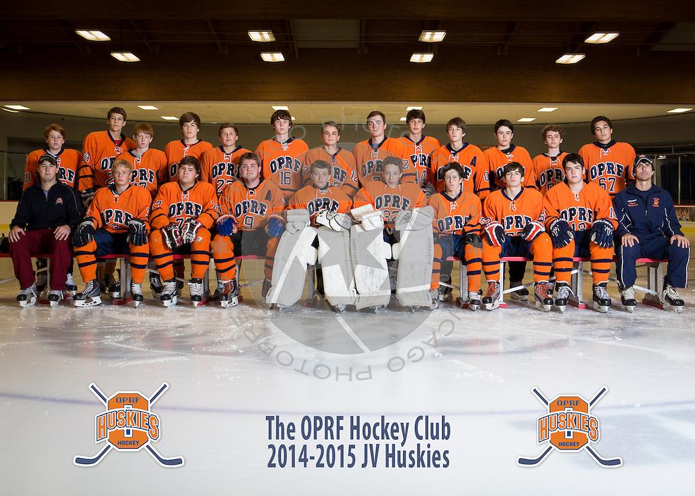 2014 OPRF Junior Varsity Hockey team photo.