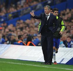 FC Schalke 04 Manager, Jens Keller gives his players directions. - Photo mandatory by-line: Alex James/JMP - Mobile: 07966 386802 - 17/09/2014 - SPORT - FOOTBALL - London - Stamford Bridge - Chelsea v Schalke 04 - Champions League Group Stage