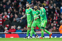 Goal, Jeremain Lens of Sunderland sores, Arsenal 0-1 Sunderland - Mandatory byline: Jason Brown/JMP - 07966386802 - 09/01/2016 - FOOTBALL - Emirates Stadium - London, England - Arsenal v Sunderland - The Emirates FA Cup
