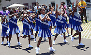 The Platinum Steppers Drill team performs during Juneteenth - Celebrating Freedom at First Baptist Church Saturday, June 18, 2016 in Langhorne, Pennsylvania.   (Photo by William Thomas Cain)