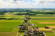 Nederland, Noord-Holland, Beemster, 14-06-2012; De Beemster, 400 jaar 1612 - 2012. Overzich in zuidelijke richting langs de as van de Jisperweg, het dorp Westbeemster in de voorgrond. De 17e eeuwse droogmakerij, met haar  beroemde geometrische verkaveling, maakt deel uit van het wereld erfgoed (Unesco werelderfgoedlijst).The famous geometrical well-ordered polder Beemster, 17th century  reclaimed landscape, Unesco world heritage..luchtfoto (toeslag), aerial photo (additional fee required);.copyright foto/photo Siebe Swart
