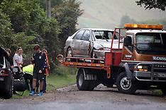 Tauranga-Car crashes down bank near Paengaroa