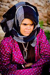 Portrait of a nomadic woman in the Dades Valley in southern Morocco, North Africa<br /> <br /> (c) Andrew Wilson | Edinburgh Elite media