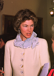 The COUNTESS OF VERULAM  at an exhibition in London on 23rd April 1998.<br /> MGZ 32