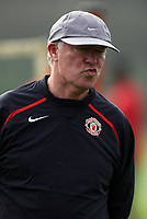 Photo: Paul Thomas.<br /> Manchester United training session. UEFA Champions League. 16/10/2006.<br /> <br /> Sir Alex Ferguson.