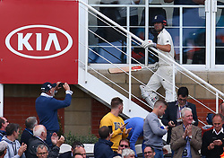 September 7, 2018 - London, Greater London, United Kingdom - England's Alastair Cook .during International Specsavers Test Series 5th Test match Day One  between England and India at Kia Oval  Ground, London, England on 07 Sept 2018. (Credit Image: © Action Foto Sport/NurPhoto/ZUMA Press)