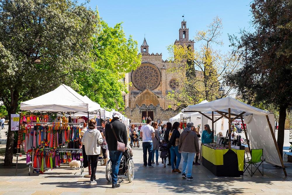 Market at Placa Octavia, , Sant Cugat del Valles, Barcelona, Catalonia, Spain