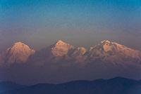 Langtang Lirung Peak (23,711 feet), Himalayas, from Nagarkot, Nepal.