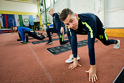 Nik Kapun during 1st Practice session of NK Olimpija Ljubljana after Winter break before Spring season of Prva liga 2018/19, on January 10, 2018 in ZAK, Ljubljana, Slovenia. Photo by Vid Ponikvar / Sportida