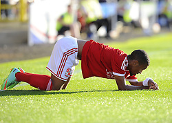 Swindon Town's Nathan Thompson - Photo mandatory by-line: Joe Meredith/JMP - Mobile: 07966 386802 21/07/2014 - SPORT - FOOTBALL - Swindon - County Ground - Swindon Town v Southampton