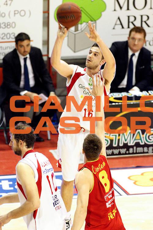 DESCRIZIONE : Pistoia Lega A2 2011-12 Playoff Quarti di finale Gara2 Giorgio Tesi Group Pistoia Prima Veroli<br /> GIOCATORE : Gurini Giacomo<br /> SQUADRA : Giorgio Tesi Group Pistoia<br /> EVENTO : Campionato Lega A2 2011-2012<br /> GARA : Giorgio Tesi Group Pistoia Prima Veroli Playoff quarti di finale gara1<br /> DATA : 12/05/2012<br /> CATEGORIA : Tiro<br /> SPORT : Pallacanestro<br /> AUTORE : Agenzia Ciamillo-Castoria/Stefano D'Errico<br /> Galleria : Lega Basket A2 2011-2012 <br /> Fotonotizia : Pistoia Lega A2 2011-2012 Playoff quarti di finale gara2 Giorgio Tesi Group Pistoia Prima Veroli<br /> Predefinita :