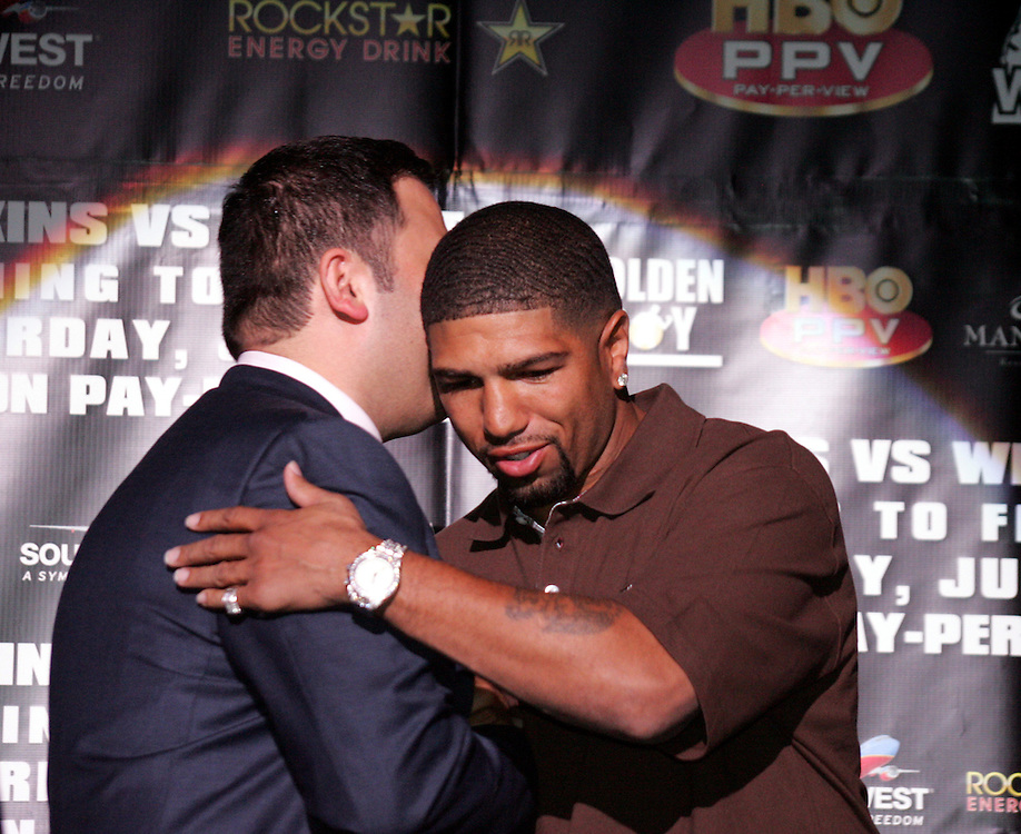 "Ronald ""Winky"" Wright. Press conference to promote the Light Heavyweight between Ronald ""Winky"" Wright and Bernard ""The Executioner"" Hopkins. MGM Grand, 5th May 2007"