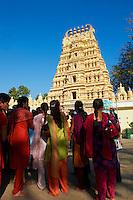 Inde, etat du Karnataka, Mysore, le palais du Maharaja, temple de Varahaswami // India, Karnataka, Mysore, Maharaja palace, Varahaswami temple