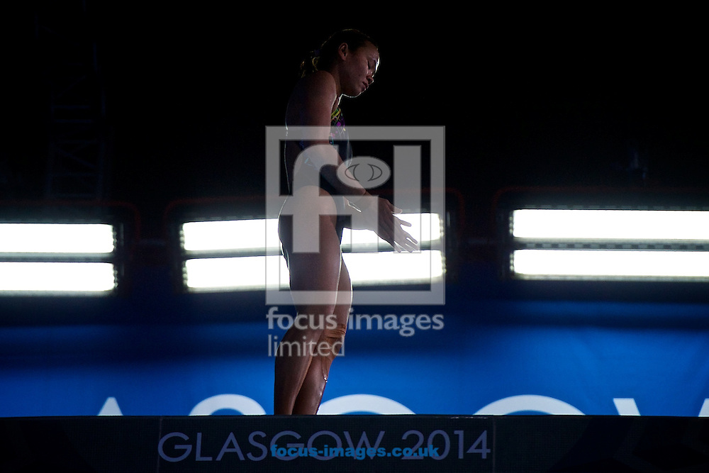 Silver medalist Rinong Pandelela Pamg of Malaysia pictured during the Women's 10 Metre Platform Final on Diving Day Two at Royal Commonwealth Pool during Glasgow 2014 Commonwealth Games <br /> Picture by Ian Wadkins/Focus Images Ltd +44 7877 568959<br /> 31/07/2014