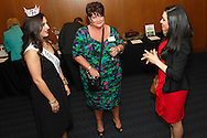 (from right) Maha Kashani of DPL Energy Resources, Holly Campbell-Bradley of One Lincoln Park and Miss Ohio 2012 Elissa McCracken during the Better Business Bureau's Eclipse Integrity Awards dinner at Sinclair Community College's Ponitz Center in downtown Dayton, Tuesday, May 14 2013.