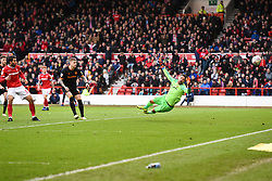 March 9, 2019 - Nottingham, England, United Kingdom - Karim Ansarifard (37) of Nottingham Forest scores a goal to make it 2-0 during the Sky Bet Championship match between Nottingham Forest and Hull City at the City Ground, Nottingham on Saturday 9th March 2019. (Credit Image: © Jon Hobley/NurPhoto via ZUMA Press)