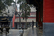 Shaolin Monastery or Shaolin Temple, a Chán Buddhist temple on Mount Song, near Dengfeng, Zhengzhou, Henan province, China