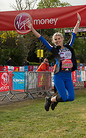 Ashley James (Made In Chelsea star and TV presenter running for Cancer Research UK) at the celebrity start on Blackheath. The Virgin Money London Marathon, 23rd April 2017.<br /> <br /> Photo: Joanne Davidson for Virgin Money London Marathon<br /> <br /> For further information: media@londonmarathonevents.co.uk