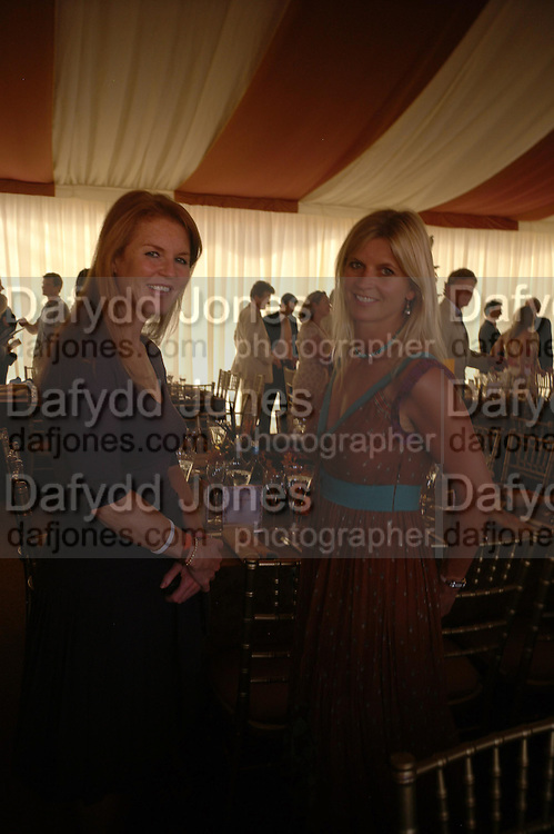 the The Duchess of York and the Marchioness of Milford Haven. Veuve Clicquot Gold Cup Final at Cowdray Park. Midhurst. 17 July 2005. ONE TIME USE ONLY - DO NOT ARCHIVE  © Copyright Photograph by Dafydd Jones 66 Stockwell Park Rd. London SW9 0DA Tel 020 7733 0108 www.dafjones.com