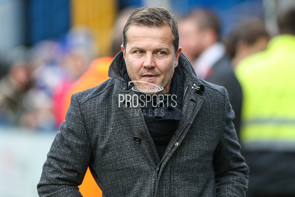 Forest Green Rovers manager, Mark Cooper during the Vanarama National League match between Macclesfield Town and Forest Green Rovers at Moss Rose, Macclesfield, United Kingdom on 12 November 2016. Photo by Shane Healey.