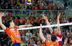 Matevz Kamnik of ACH  during volleyball match between ACH Volley (SLO) and Olympiacos (GRE) in 4th Round of 2011 CEV Champions League, on December 14, 2010 in Arena Stozice, Ljubljana, Slovenia.  (Photo By Vid Ponikvar / Sportida.com)