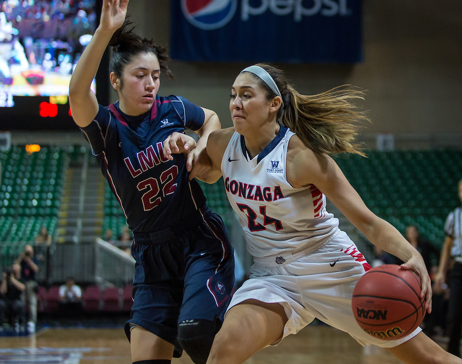 The Gonzaga women beat LMU 70-50.