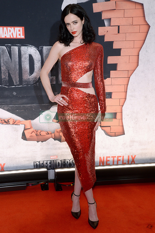 Actress Krysten Ritter attends the 'Marvel's The Defenders' New York Premiere at Tribeca Performing Arts Center in New York, NY, on on July 31, 2017. (Photo by Anthony Behar) *** Please Use Credit from Credit Field ***
