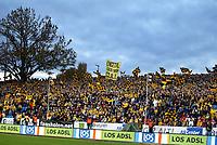 Fotball , 29. oktober 2005 , Tippeligaen , Start - Fredrikstad 1-3 , illustrasjon  stadion , Kristiansand stadion , tilkuere , tilskuer , fan , fans supportere , supporter ,  reklameskilt