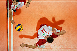 23-09-2019 NED: EC Volleyball 2019 Poland - Germany, Apeldoorn<br /> 1/4 final EC Volleyball Poland win 3-0 / Michał Kubiak #13 of Poland