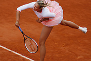Roland Garros. Paris, France. May 31st 2006.  .Sharapova serves against Benesova during the 2nd tour of the tennis french open.