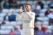 Keshav Maharaj of Lancashire during the Specsavers County Champ Div 1 match between Somerset County Cricket Club and Lancashire County Cricket Club at the Cooper Associates County Ground, Taunton, United Kingdom on 5 September 2018.