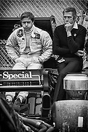 By 1983, Formula 1 had been transformed by ground effects, carbon fiber, turbocharging, and electronic engine management. <br /> <br /> As Team Lotus driver Elio de Angelis experienced here, at the Detroit Grand Prix with the John Player Special Lotus 93T, the shear number of new problems created by these systems made the diagnosis of his car&rsquo;s poor performance at times impossible. During the 1983 season, de Angelis experienced 12 retirements out of 15 Grands Prix.<br /> <br /> The Lotus turn-around arrived in the 1984 season, giving deAngelis steady points and 3rd in the World Championship standings.<br /> <br /> Aryton Senna joined deAngelis at Lotus in 1985, but after his second win in the San Marino Grand Prix, deAngelis felt the team's attention moving more in Senna's direction and left for Brabham in 1986. <br /> <br /> Elio de Angelis was killed in a practice accident at the Paul Ricard circuit that spring, and his death so affected both the FIA and the Formula One governance that massive changes were ordered for the cars, leading eventually to an end to the turbo-era and a return to naturally-aspirated engines.