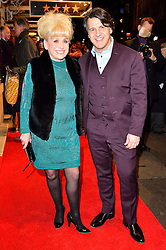 © Licensed to London News Pictures. 16/02/2016. DAME BARBARA WINDSOR and husband SCOTT MITCHELL arrive for the press night of Mrs Henderson Presents press night at the Noel Coward Theatre. London, UK. Photo credit: Ray Tang/LNP